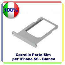 SLOT PORTA SIM TRAY PORTA SCHEDA VASSOIO PER  IPHONE 5S SILVER ARGENTO