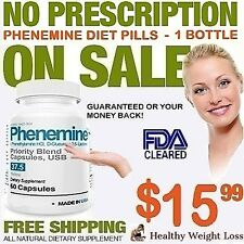 1 Phenemine Like Adipex 37.5 Rapid Fast Strong Quick Best Weight Loss Diet Pills
