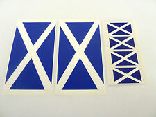 6 Scotland Flag Window Stickers, Scottish Saltire, 'Inside Fix Outside View'