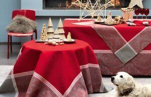 """Le Jacquard Francais Tischdecke """" Scintellement holly """" 175 x 175 Weihnachten"""