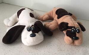 Vintage Tonka Pound Puppies Puppy Spotty Pair 1980's Plush