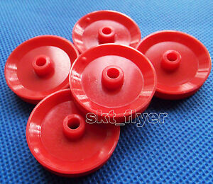 5pcs 29*5.8*3.9mm Pulley Plastic Gears travelling block for Robot Part DIY Car