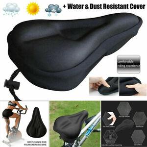 Bike Bicycle Cushion Seat Cover 3D Gel Saddle Pad Padded Soft Extra Comfort UK