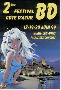 DANY: COLOMBE. 2ème festival bd Côte d'Azur 99. Carte postale pub.