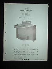 Yamaha Electone Electric Organ BK-20A BK-20AI.S Part List Manual Keyboard BK20A