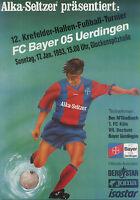 17.01.1993 DFB-Masters Krefeld mit Borussia Mönchengladbach, Bayer Uerdingen ...