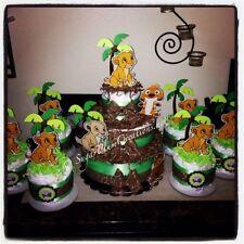 3 Tier Diaper Cake Cows Barnyard Bash Farm Animal Baby Shower Centerpiece