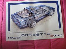 RARE 1989 Corvette ZR1 ZR-1 poster genuine Chevrolet David Kimble illustration