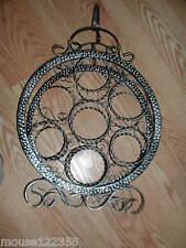 Vtg  Metal Wine Rack wrought iron Gorgeous  design 7