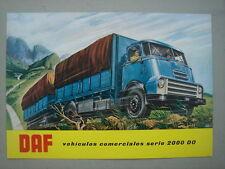 DAF  Vehicules comerciales serie 2000 DO   Dépliant/brochure  (Spanish)  1962.