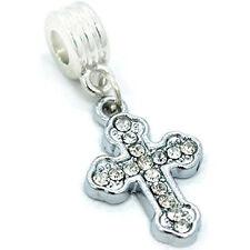 Cross Charm Dangle Bead Spacer For Snake Chain Charm Bracelet