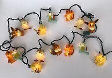 Vintage Pokemon String Lights 1999 Charmander Pikachu Vulpix Light Rare Works