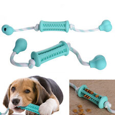 Rubber Bone Chew Treat Dispensing Holder Pet Dog Puppy Cat Toy Training Dental