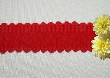 "Red Fringe Loop Trim 6 Yards x 1"" CLOSEOUT Cotton N99EV Added Trims ShipFree"