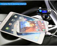Dual USB Car Cigarette Lighter Charger FM Transmitter MP3 Player For iPhone 5 6