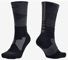 MEN'S NIKE HYPER ELITE CUSHIONED BLACK BASKETBALL SOCKS SIZE M 6-8 SX5035 011