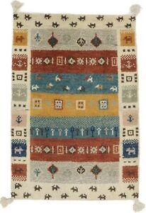 Tribal Design Contemporary Tassel 2X3 Modern Gabbeh Oriental Rug Wool Carpet