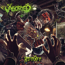 ABORTED - Retrogore LP - RED Vinyl + CD - Death Metal - SEALED new copy