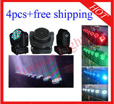 36*3W RGBW Led Beam Moving Head DJ Stage Light Flight Case 4pcs Free Shipping