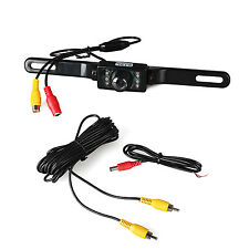 License Plate Night Vision Rear View Back Up Reverse Camera CMOS 7 LED Camera