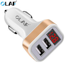 Olaf Car Charger Digital Display Dual Port USB Adapter 2.1A Car-charger Double U