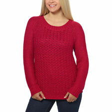 NEW Calvin Klein Jeans Women's Textured Knit Crew Neck Sweater Persian Red XL