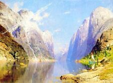 Fjord, Midsummer by Adelsteen Normann Artwork by Selby Prints