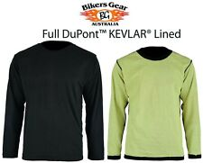 Full Kevlar Lined  Long Sleeve T-Shirt Ideal for under your jacket or on its own