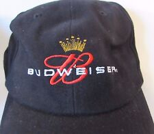 Budweiser King of Beers Black Ball Cap Hat 2003 Never Worn Classic Logo
