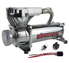 Air Bag Suspension Compressor 580 Chrome 180psi Off Pressure Switch & Relay