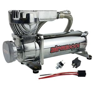 Air Compressor 580 Chrome 200 psi Off Pressure Switch, Relay For Bag Suspension