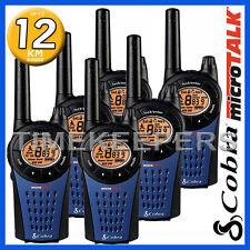 12 Km Cobra mt975 Walkie Talkie 2 dos manera PMR Radio 6 Pack para seguridad y de ocio