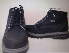 Lugz Mens Brigade Fleece WR Nubuck Lace-up Ankle Boots Black/Charcoal - SZ 6.5 D