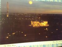 VINTAGE POST CARD AFTER DUSK  EVENING VIEW THE WHITE HOUSE WASHINGTON D.C.