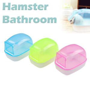 Small Pet Hamster Bathroom Dustproof Bath Bathtubs Sauna Toy Box Toilet UK