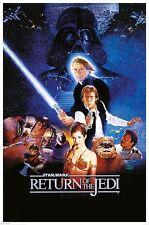 STAR WARS Return of the Jedi One Sheet POSTER 61x91cm NEW * Han Solo Vader Luke