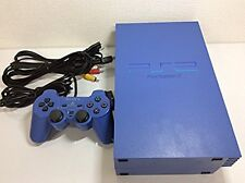 PS2 Console Ratchet & Clank Blue Console Japan *GOOD - WITH BLUE ControlIer*