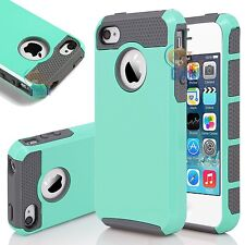 PC Shockproof Hybrid Rubber Protective Hard Cover Case For Apple iPhone 4 4G 4S