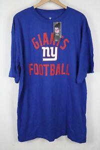 NWT Mens New York Giants Fanatics T Shirt Blue Size XLT Tall