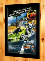 2001 Stunt GP Video game Rare Small Poster /Vintage Ad Page Framed PS2 Dreamcast