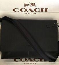 Coach Mens Sullivan Messenger Black Leather Crossbody Shoulder Bag F71726 NWT