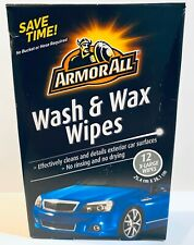 Armor All Wash and Wax Wipes 12 X-Large Wipes No Rinsing *NEXT DAY SHIPPING* New