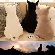 Neu Cartoon Katze Schatten Kissen Dekokissen Plüsch Ausgestopft Couch Sofakissen