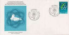 (OP-25) 1977 UN FDC FS1,10 atomic energy UN (certified) (D)