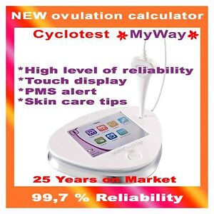 Cyclotest MyWay Contraceptive Monitor Ovulation Fertility cycle Sensor Fairhaven