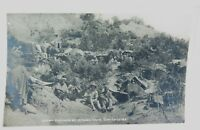 .RARE WW1 ANZAC COVE (DARDANELLES) GALLIPOLI REAL PHOTO POSTCARD INDIAN BIVOUACS
