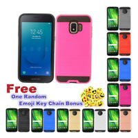 Slim Brushed Metal Hybrid Case  Phone Cover For Samsung Galaxy J2 Core