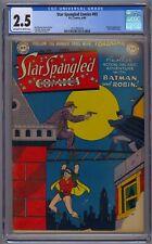 STAR SPANGLED COMICS #93 CGC 2.5 BATMAN APP LAST FEDERAL AGENT GOLDEN AGE