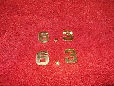 DODGE 6.3 6.3L 383 ENGINE ID FENDER HOOD SCOOP QUARTER TRUNK EMBLEMS - GOLD