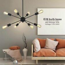 Industrial Metal Sputnik Chandelier Ceiling Light Pendant Lighting Black 8-Light
